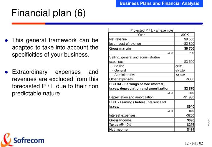 This general framework can be adapted to take into account the specificities of your business.