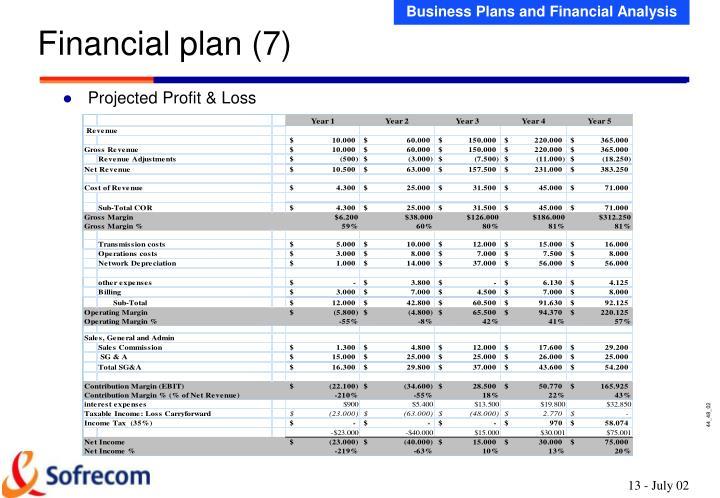 Financial plan (7)