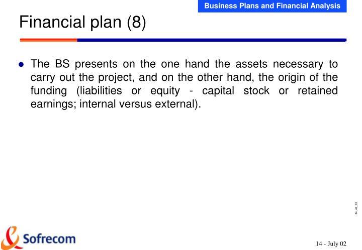 Financial plan (8)