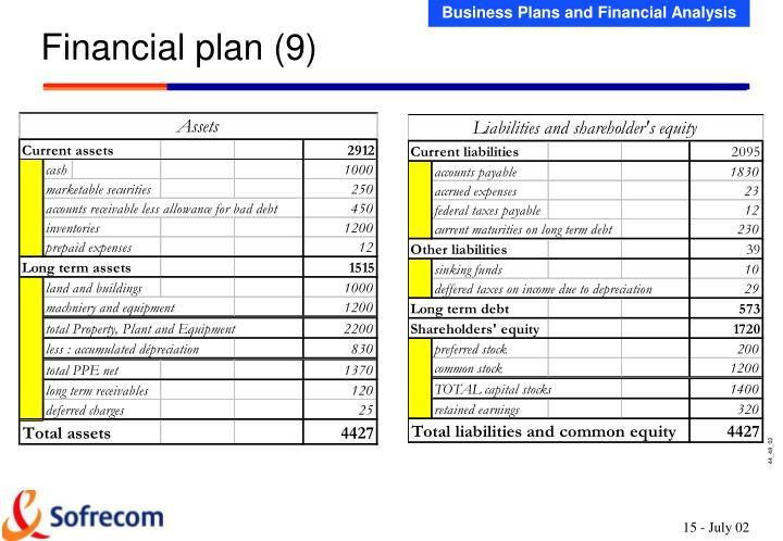 Financial plan (9)