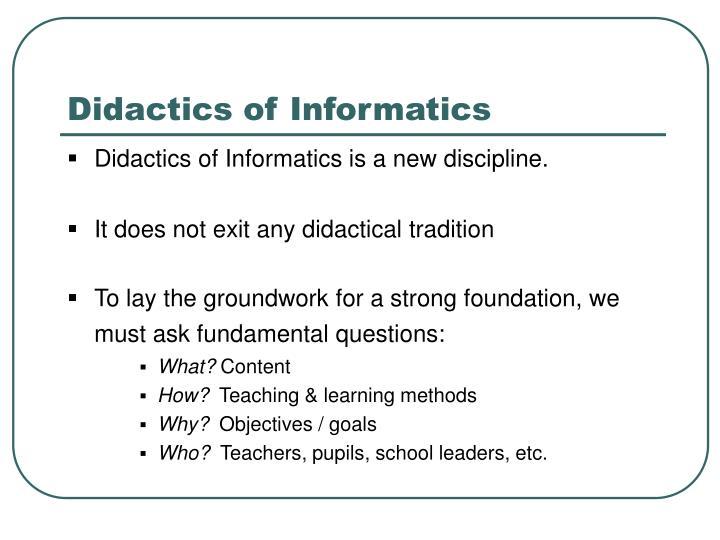 Didactics of informatics