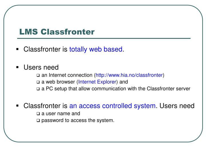 LMS Classfronter