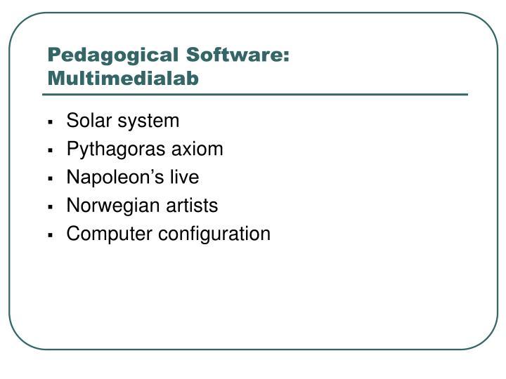 Pedagogical Software:
