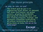 the reuse principle