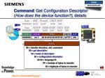 command get configuration descriptor how does the device function details
