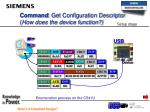 command get configuration descriptor how does the device function