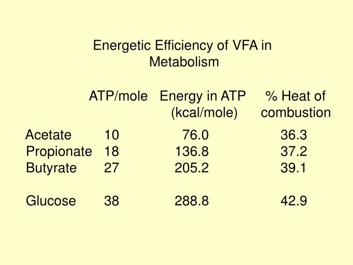 Energetic Efficiency of VFA in