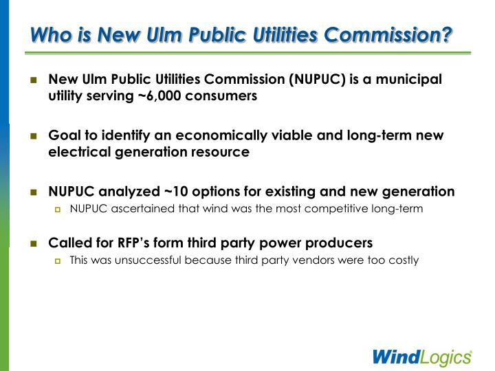 Who is New Ulm Public Utilities Commission?