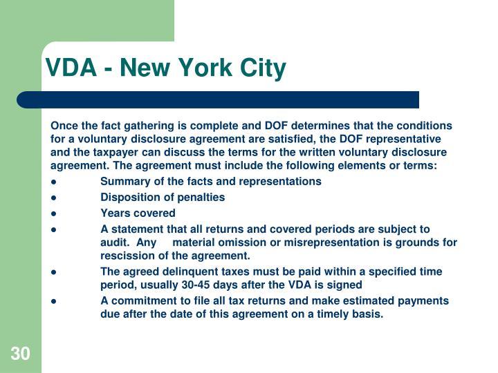 VDA - New York City