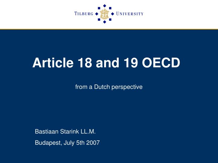 article 18 and 19 oecd n.
