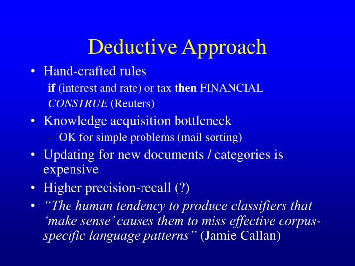 Deductive Approach