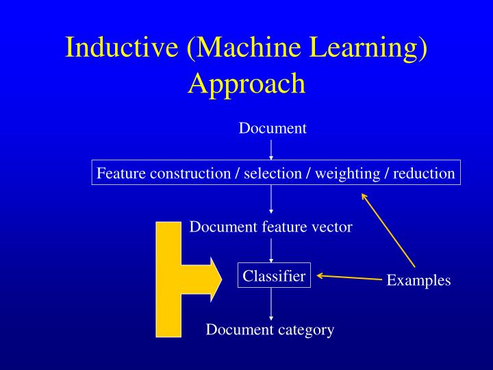 Inductive (Machine Learning) Approach
