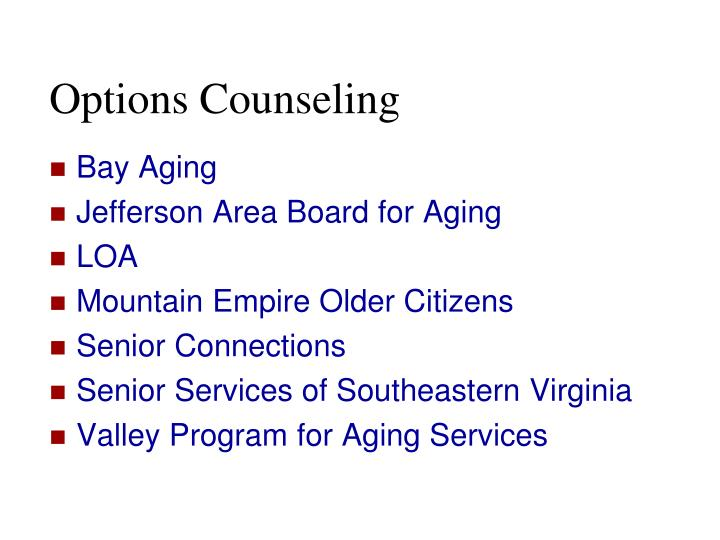Options Counseling