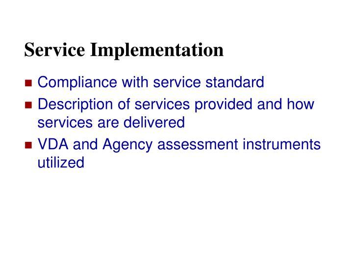 Service Implementation