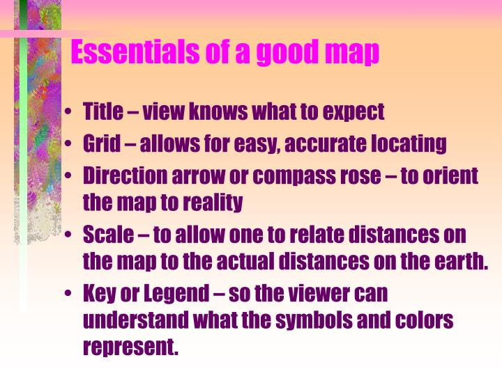 Essentials of a good map