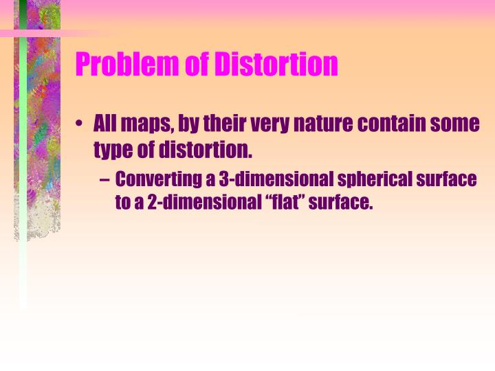 Problem of Distortion