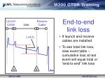 end to end link loss
