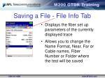 saving a file file info tab