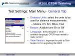 test settings main menu general tab