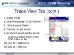 trace view tab cont
