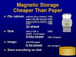magnetic storage cheaper than paper