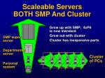 scaleable servers both smp and cluster