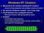 windows nt clusters