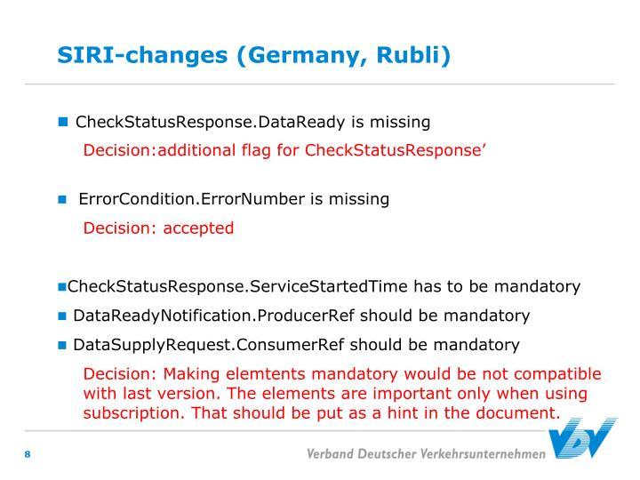 SIRI-changes (Germany, Rubli)