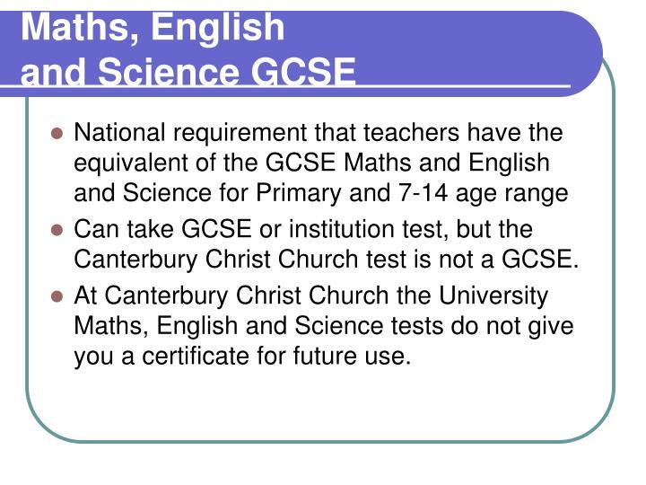 Maths, English
