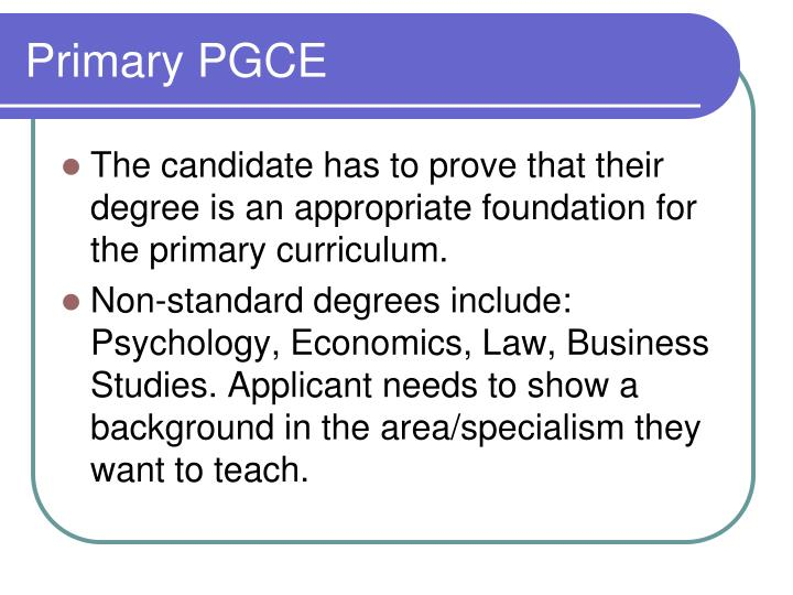 Primary PGCE