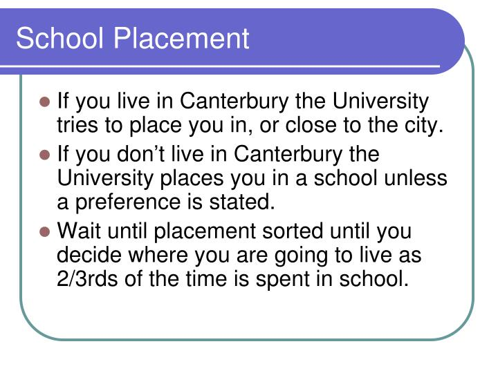 School Placement