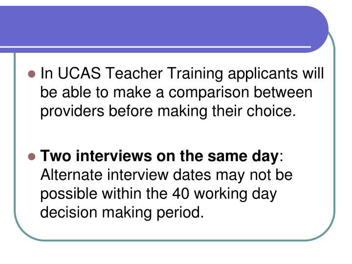In UCAS Teacher Training applicants