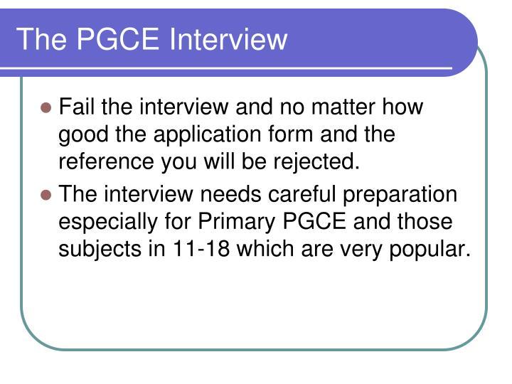 The PGCE Interview
