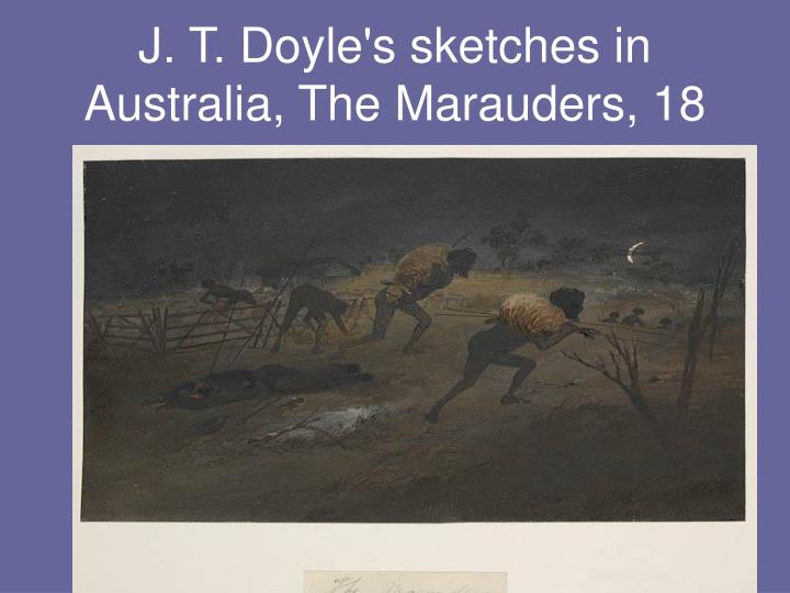 J. T. Doyle's sketches in Australia, The Marauders, 18