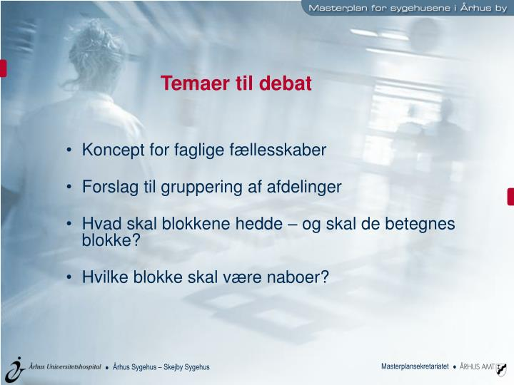 Temaer til debat