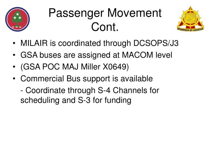 Passenger Movement