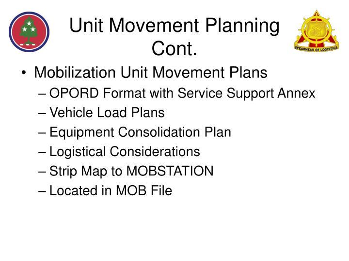 Unit Movement Planning