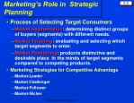 marketing s role in strategic planning