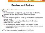 readers and scribes