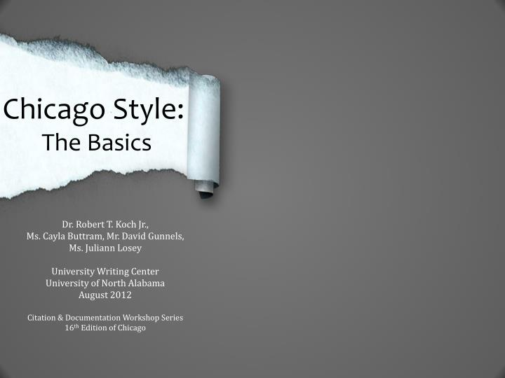 Chicago Style: