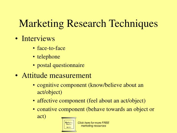 Marketing Research Techniques