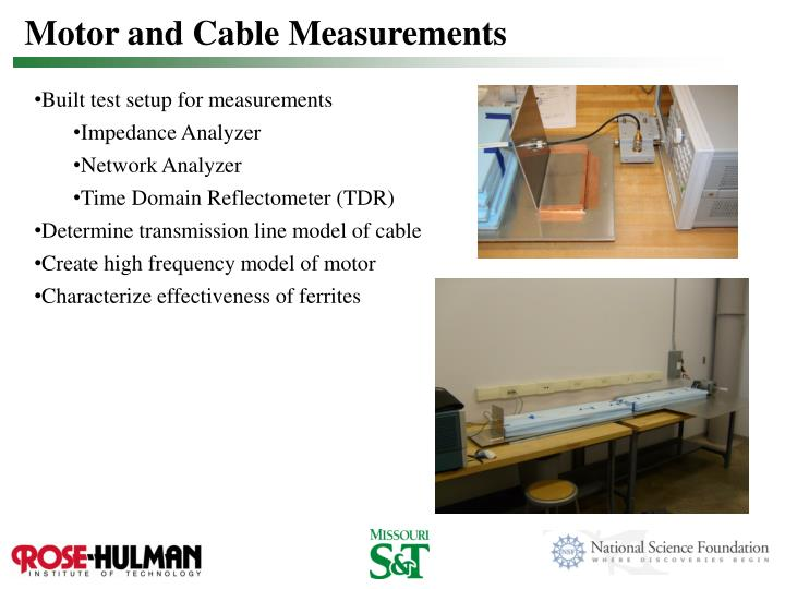 Motor and Cable Measurements