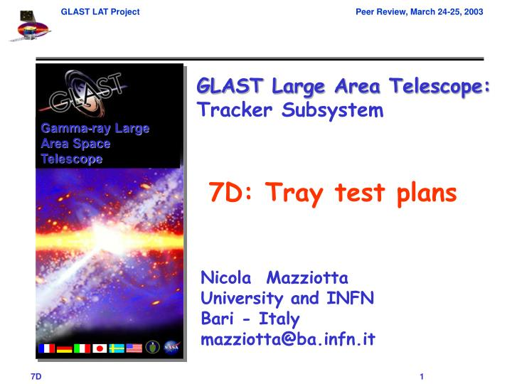 7d tray test plans