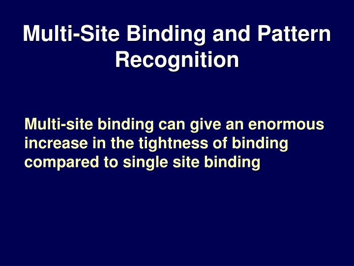 Multi-Site Binding and Pattern Recognition
