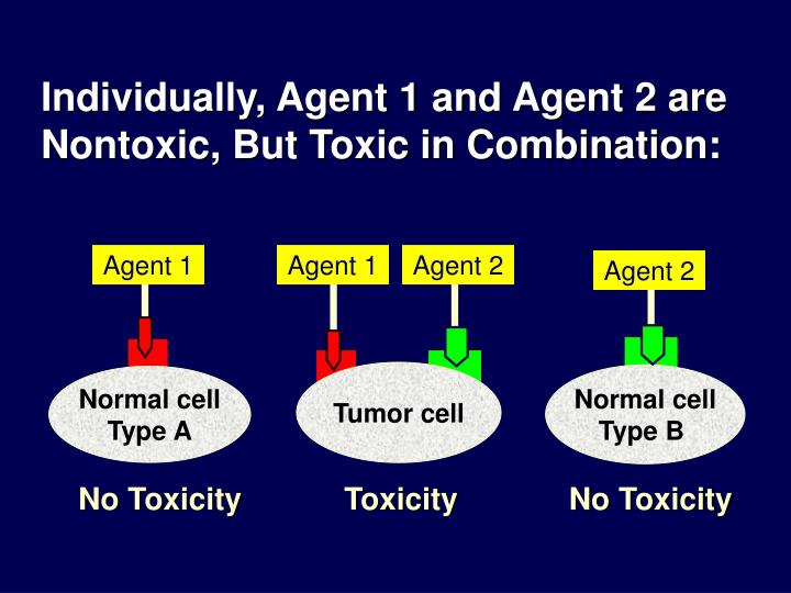 Individually, Agent 1 and Agent 2 are Nontoxic, But Toxic in Combination: