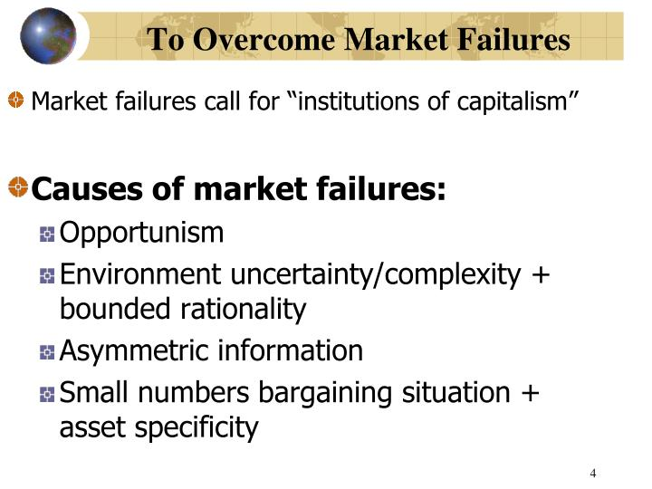 To Overcome Market Failures