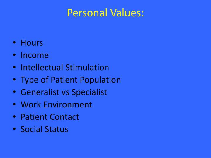 Personal Values: