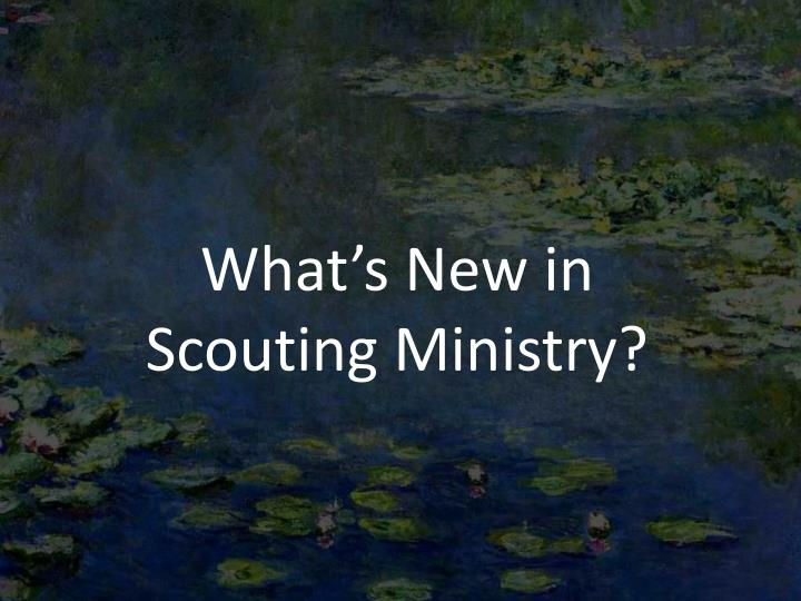 What s new in scouting ministry