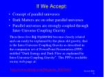 if we accept