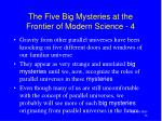 the five big mysteries at the frontier of modern science 4